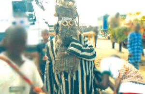Masquerade invades church in Ekiti, smashes worshipper's HEAD