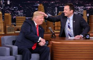 Donald Trump lets Jimmy Fallon mess up his hair on The Tonight Show