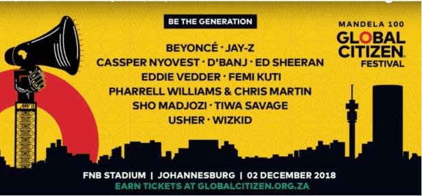 Wizkid, Cassper Nyovest, Tiwa Savage, D'banj & Femi Kuti To Perform Alongside Jay-Z & Beyonce @ Mandela 100