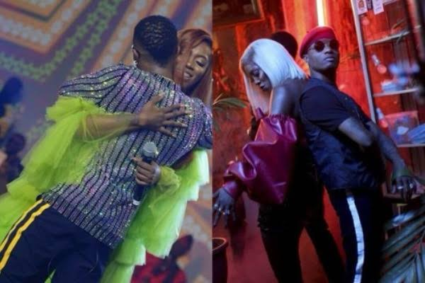 VIDEO: Wizkid And Tiwa Savage Back Together After Kissing and Making out in London while filming gucci snake