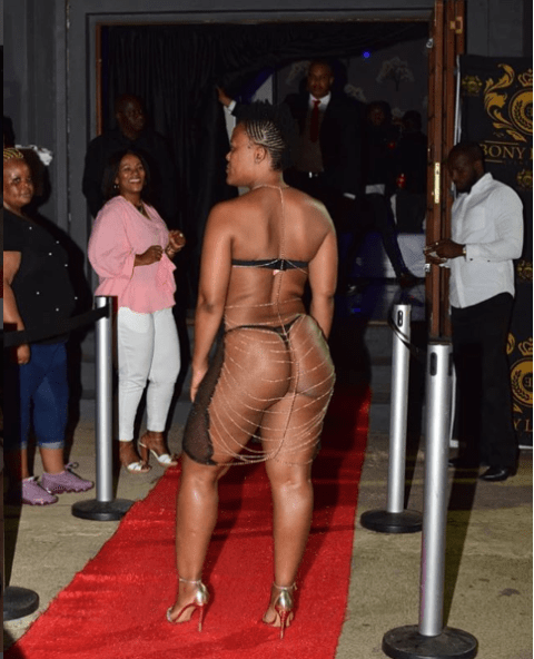 Fashion Or Madness??? See How South African 'Pantless' Dancer, Zodwa Wabantu Stormed The Red Carpet Of An Event [Photos]