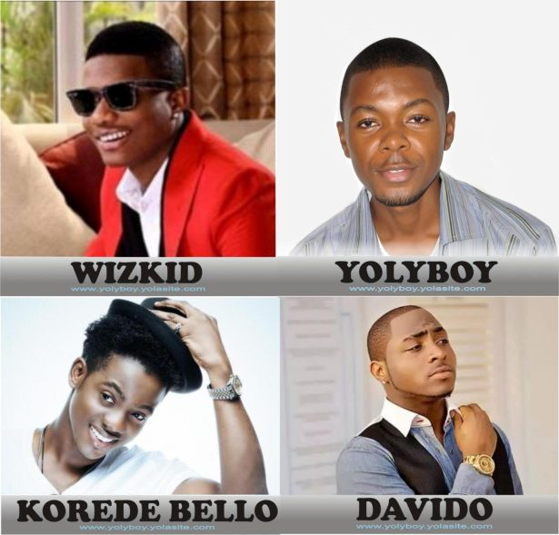 Wizkid, YolyBoy, Davido and Korede Bello; who is more handsome?