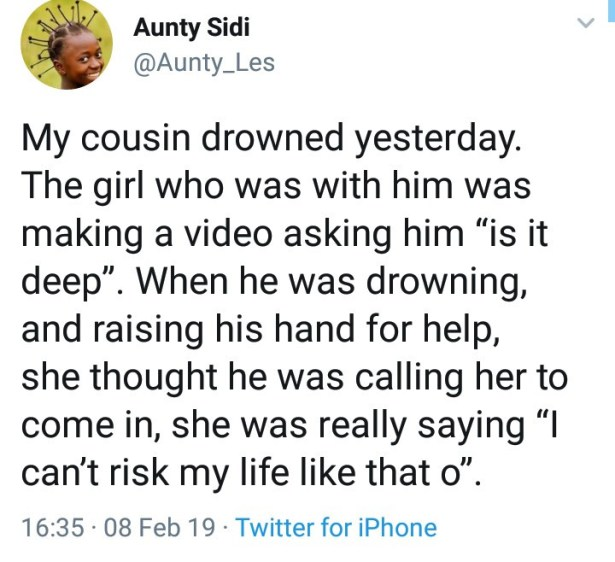 Young man drown in a beach in Port Harcourt while his friend filmed