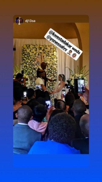 Kwesta weds his baby mama, Yolanda (Photos/Video)