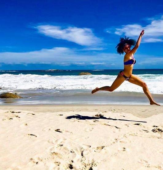 Pearl Thusi hits the beach, poses in bikini (Photos)