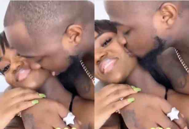 Davido licks Chioma's face as they reunite after 2 months apart (Video)