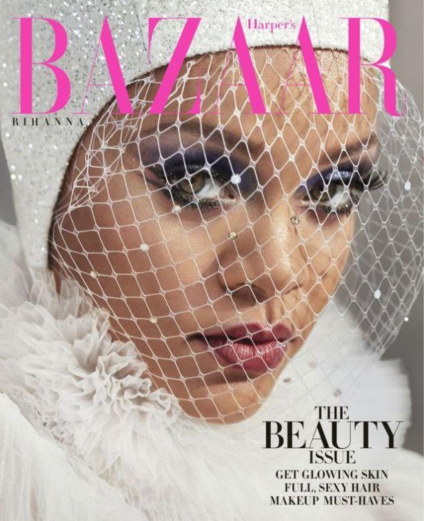 Rihanna Covers Harper's Bazaar Beauty Issue