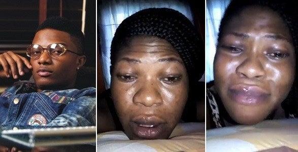 """Nigerian Lady cries profusely on Instagram, begs Wizkid """"not to die yet"""" [Read Why]"""