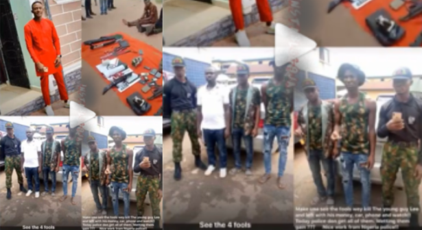 """""""We Collected 800k From Him And Killed Him With A Big Stone"""" – Soldiers Who Kidnapped, Killed FUTO Student, Arrested And Paraded"""