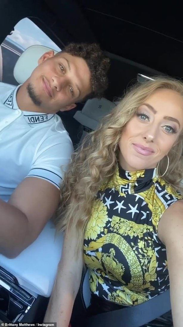 NFL star, Patrick Mahomes proposes to his longtime girlfriend two months after signing the richest deal in sports history (Photos)