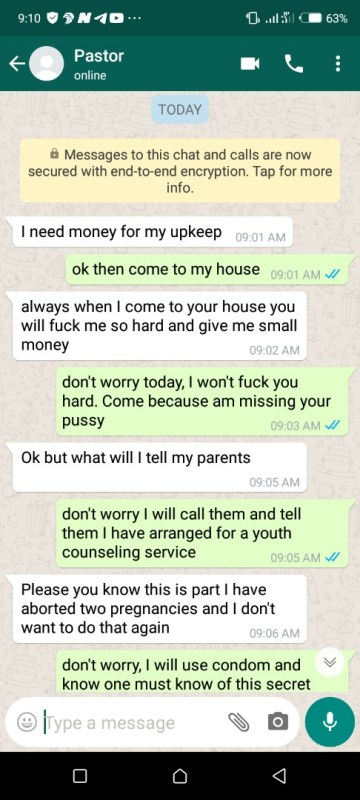 Sex chat whatsapp