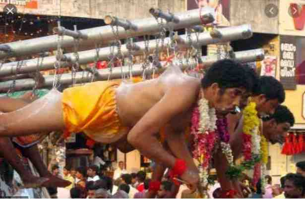 ALL THESE FOR WHAT?? See The Most Painful Ritual Ever Carried Out On Humans – You Will Be Shocked