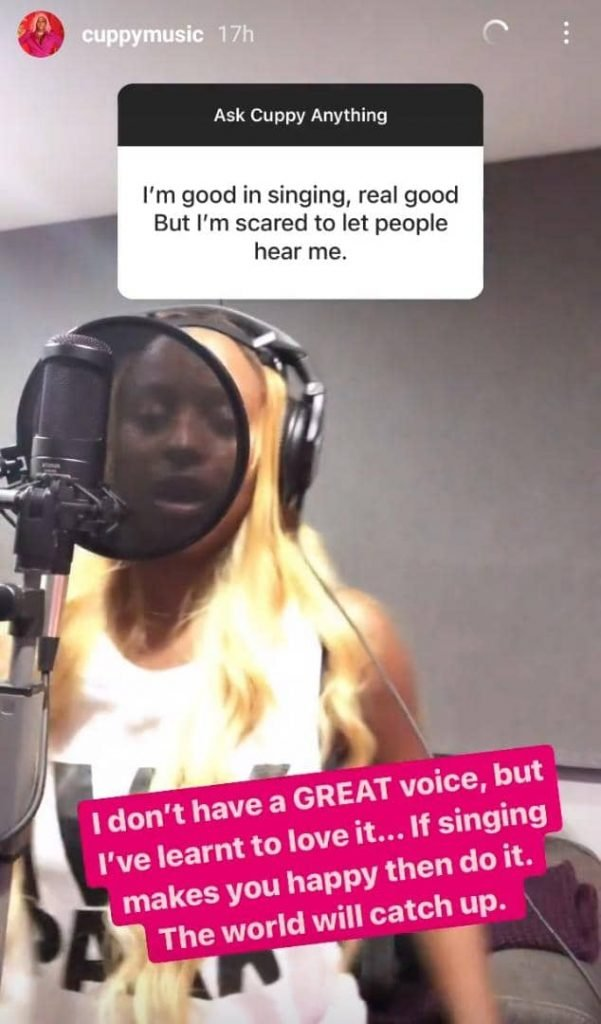 I don't have great voice – DJ Cuppy admits