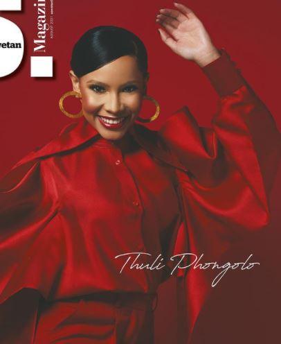 Thuli Phongolo graces Sowetan magazine's cover