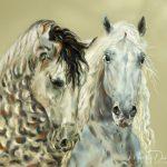 Painting Horse Artwork Illuminart Designs