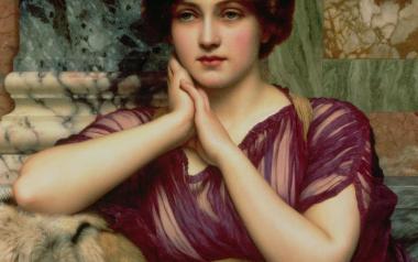 "John William Godward - ""A Classical Beauty"" http://fineartamerica.com/featured/1-a-classical-beauty-john-william-godward.html"