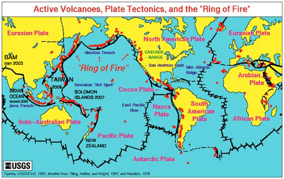 Ring of Fire Plate Map