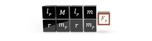 The natural formula for gravitational force potential in elementary Planck units