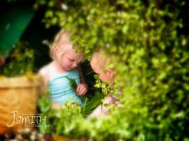 A good hide-away to play amongst a green backyard.