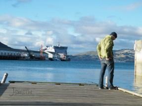 Dunedin, People's Wharf, fishing