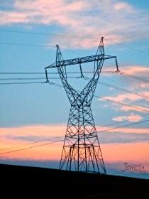 Power Pylon, Sunset, Sky