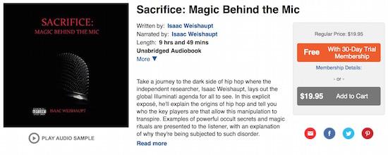 Sacrifice Magic Mic cover Audible ACX