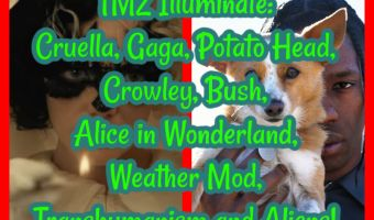 TMZ Illuminate: Cruella, Gaga, Potato Head, Crowley, Bush, Alice in Wonderland, Weather Mod, Transhumanism and Aliens!