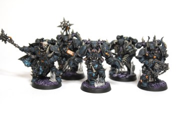No records exist on the lineage of these warriors. Night Lords?... Perhaps, Fallen?