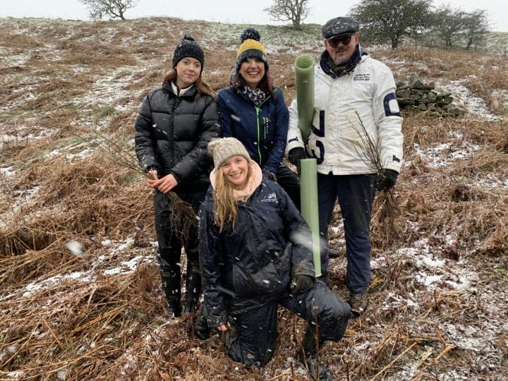 Tree planting day in the Yorkshire Dales