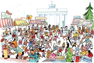 Wir Eltern, Wimmelbild, Berlin