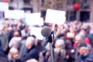 Public protest.