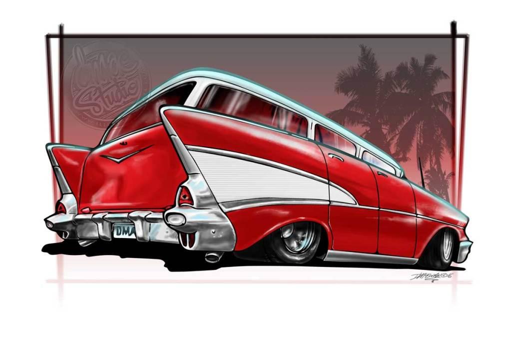 57 wagon digital drawing