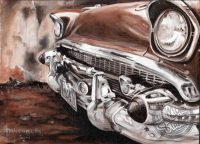 57 chevy canvas art chrome series Papamoa Mt Maunganui Tauranga Bay of Plenty New Zealand