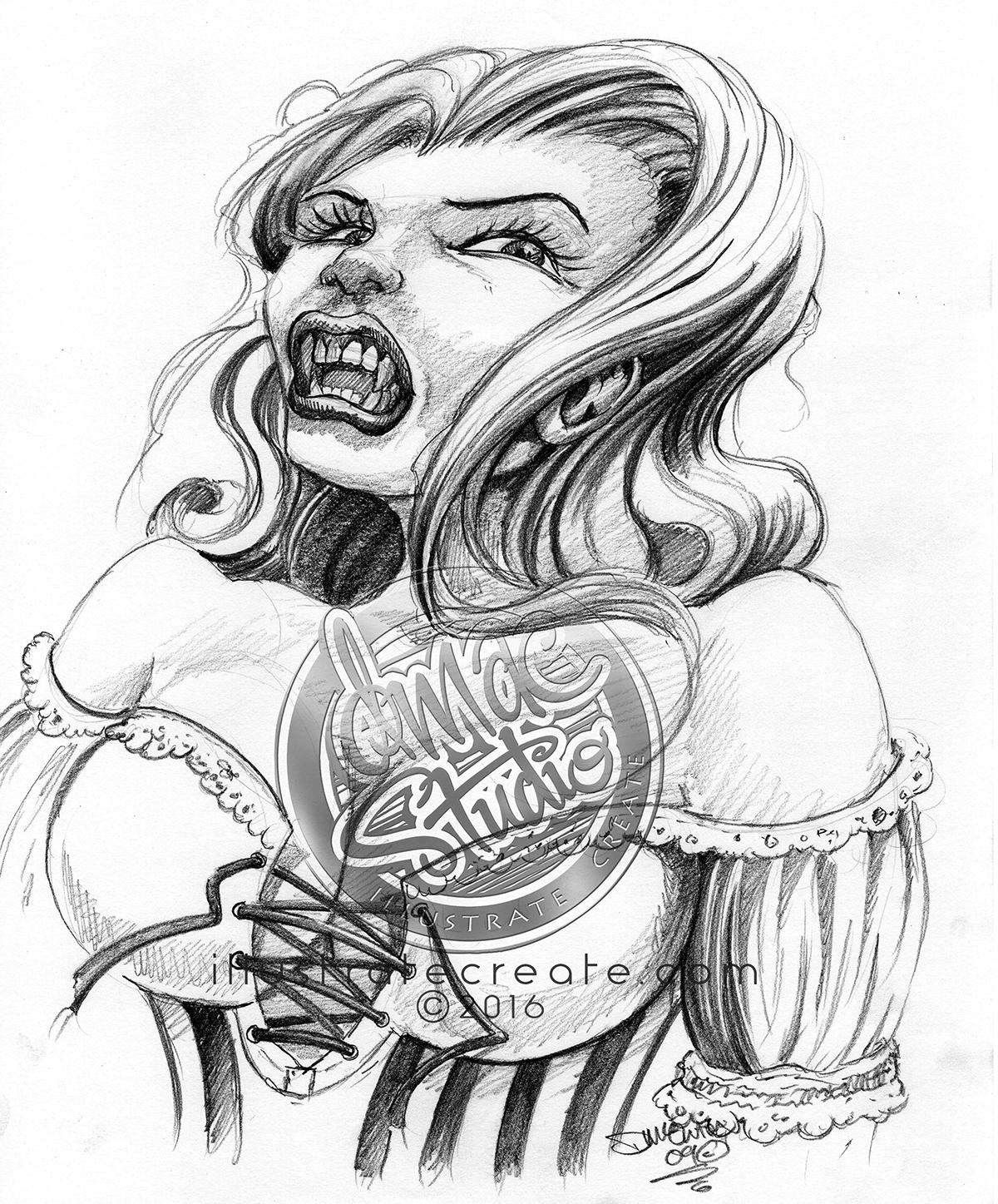 vampire sketch