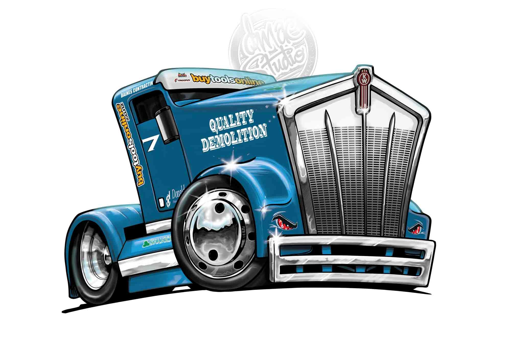 Quality Demolition Racing truck.