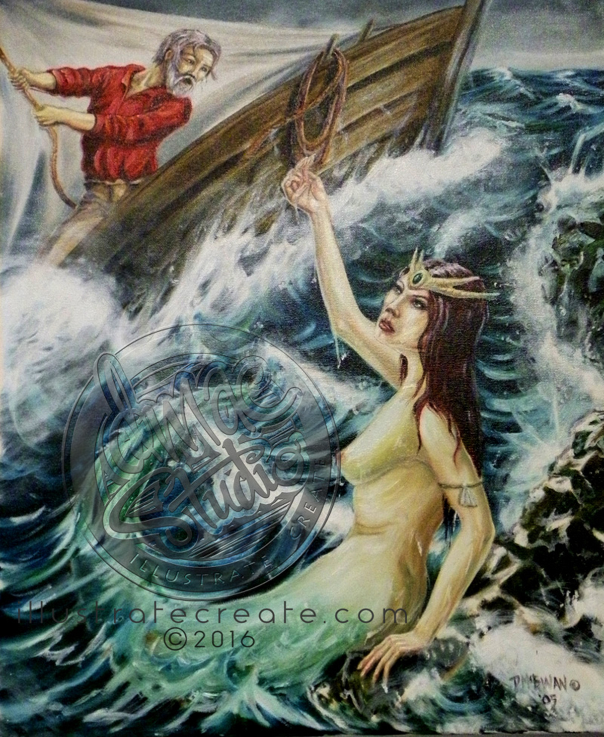 Siren Song Oil Painting
