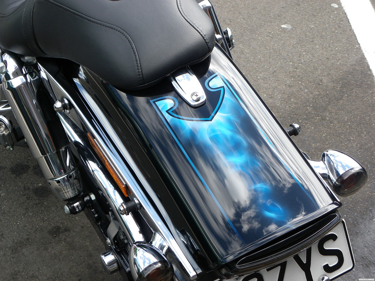 airbrush artist Harley Davidson Papamoa Mt Maunganui Tauranga Bay of Plenty New Zealand