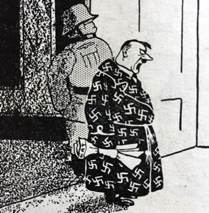 A Giles sketch of Hitler. Annual number 1. 1945.