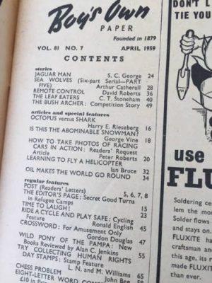 Boy's Own Paper April 1959