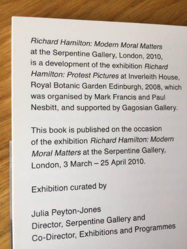 Richard Hamilton, Modern Moral Matters