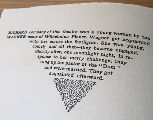 Roycroft Press, typography