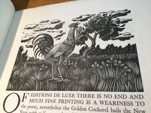 Golden Cockerel Press Prospectus 1930, Eric Ravilious