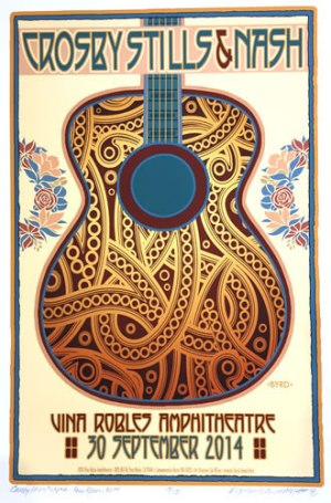 Crosby, Stills & Nash Poster by David Byrd