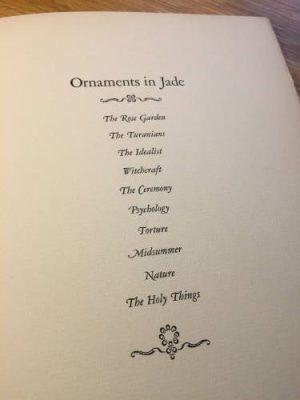 Arthur Machen, Ornaments in Jade, 1924
