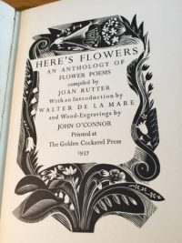 Here's Flowers, Golden Cockerel Press