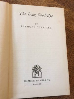 The Long Good-Bye, First Edition