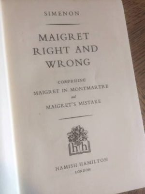 Maigret, Right and Wrong