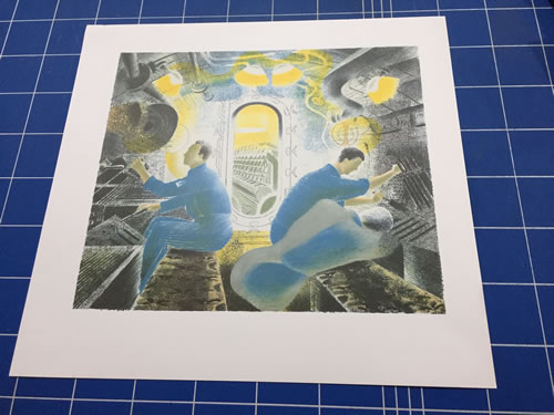 Eric Ravilious, Submarine, Working Controls While Submerged, Lithograph