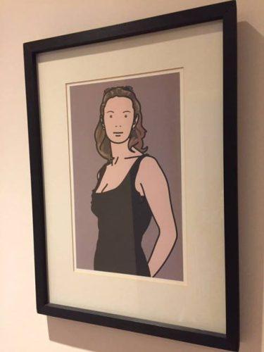 Monique With Evening Dress, Julian Opie Print
