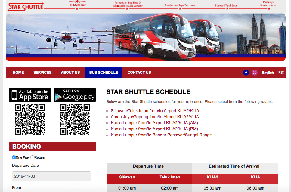 Illustrated by Sade - Star Shuttle Schedule - Getting To and From Kuala Lumpur International Airport (KLIA) to City Center via Bus